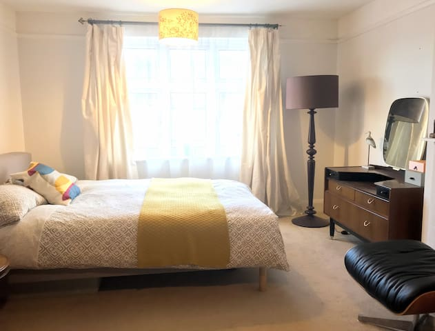 Spacious master bedroom in friendly home