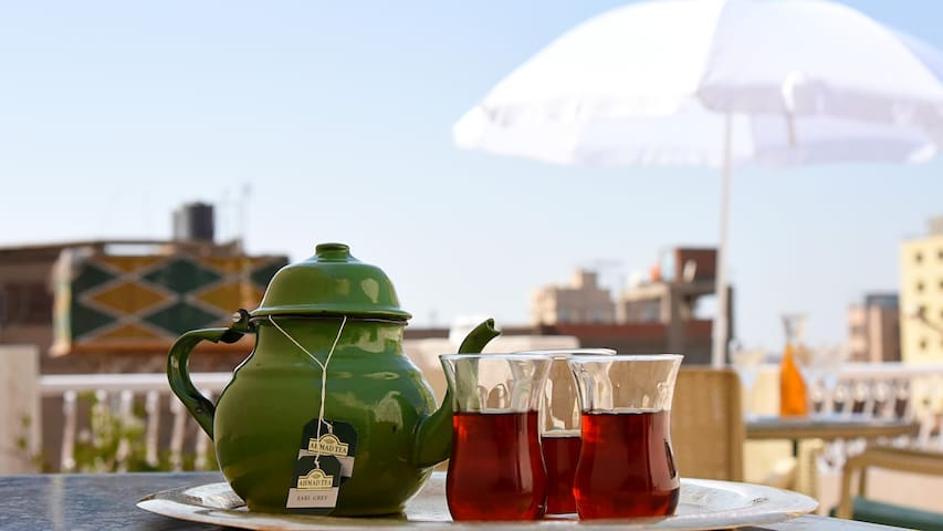 You can enjoy your tea and breakfast in our spacious outdoor terrace