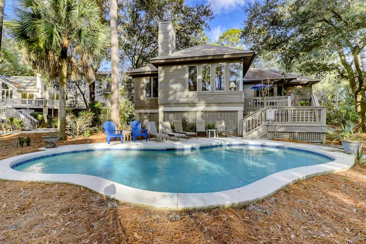 Private Pool, Across from Beach Path, Sleeps 14