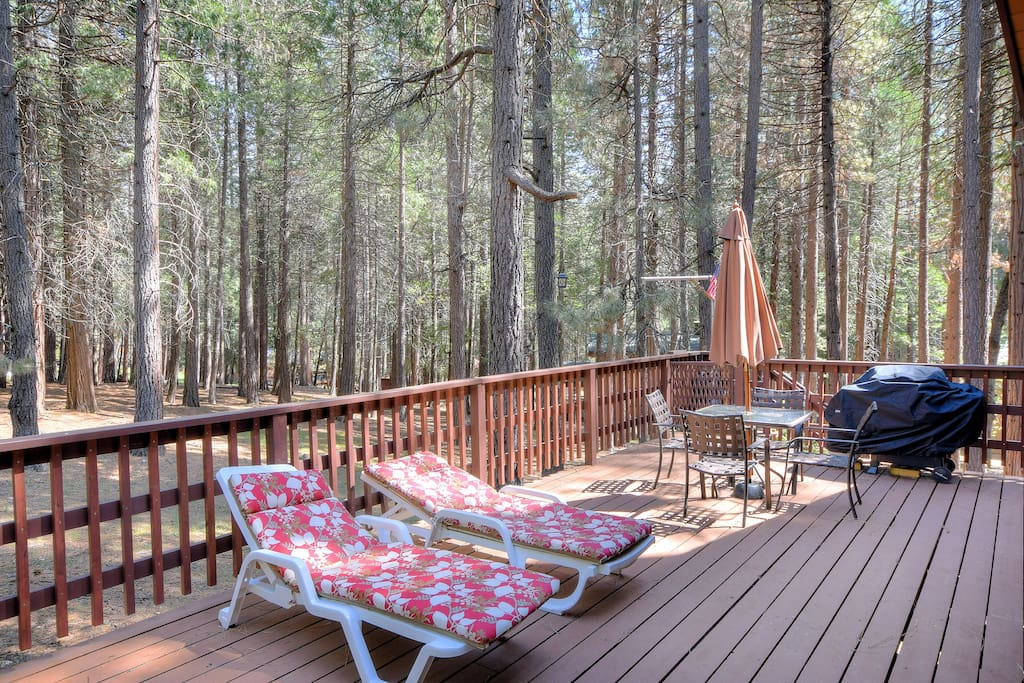 Relax and BBQ on the large deck!