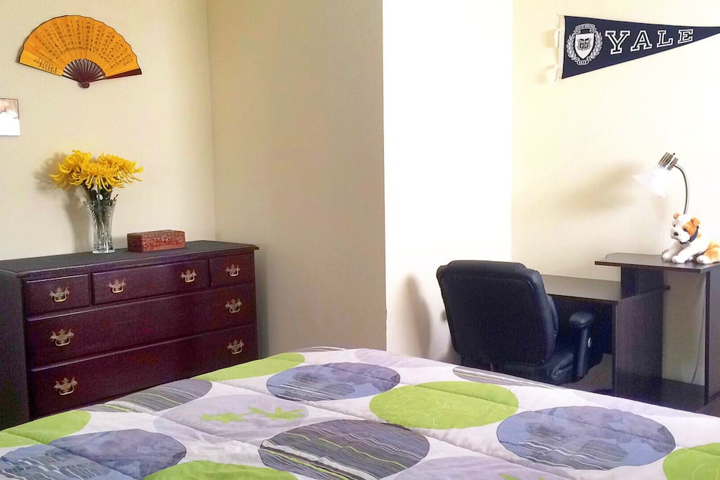 Single occupancy, fully furnished room w/ Full size bed & private bathroom