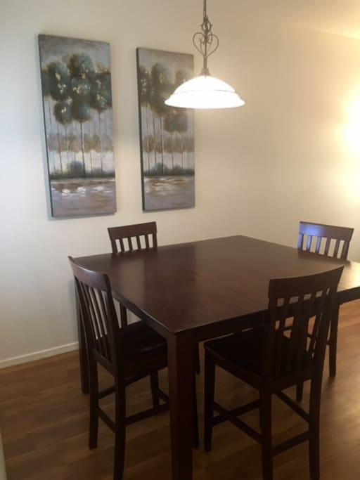 Large dining room table.