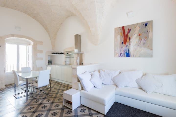 Luxurious star-vaulted apartment with roof terrace