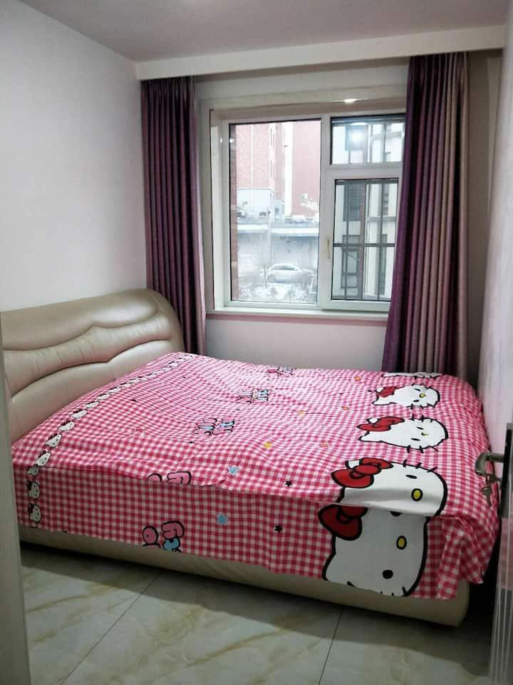 爱的港湾大床房温馨舒适日租短租房公寓
