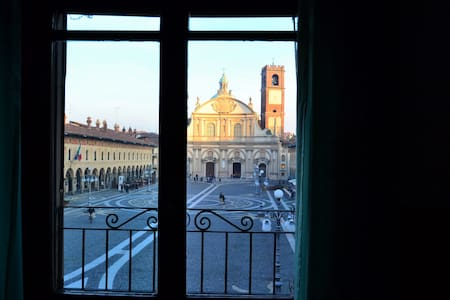 Window on the Square - Vigevano