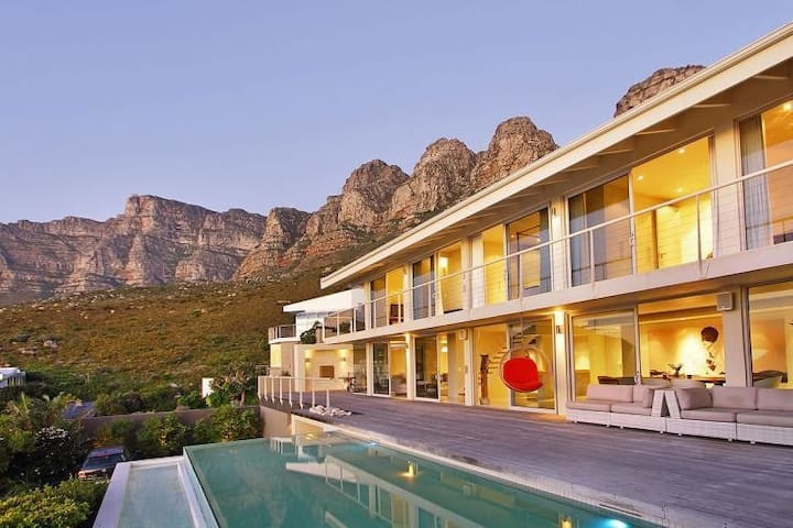 Spacious and Elevated Three Bedroom Home in Camps Bay with Private Pool and Breathtaking Views