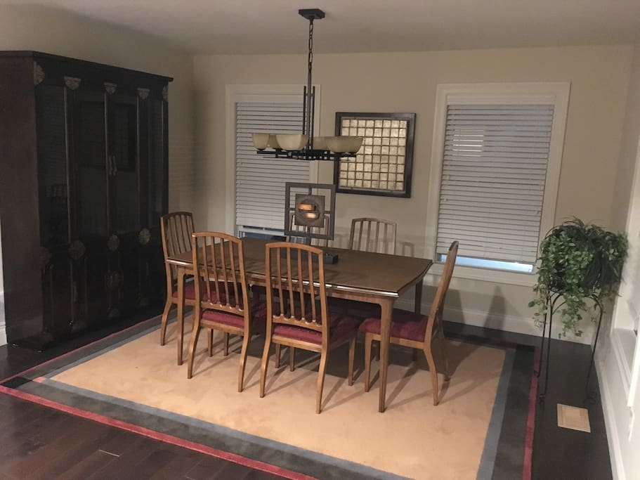Dining room or study area