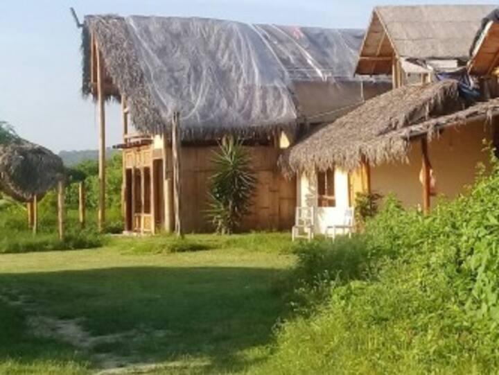 Built on the beach bungalows!