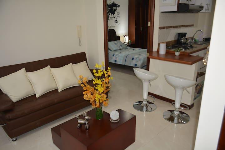 Acogedor apartaestudio en San Andrés