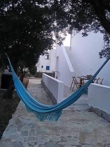 shared hammock for siesta under the trees