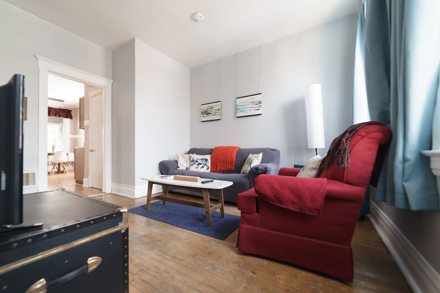 Living room as you enter the AirBnB