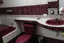 Baño privado con tina.