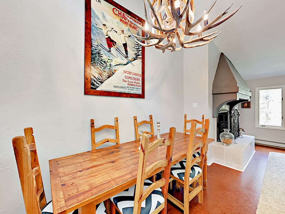 Welcome to your Vail vacation home! Enjoy home-cooked meals in the sunlit dining area.