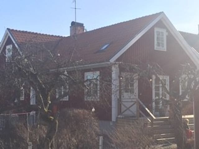 Classic beautiful Swedish Red & White wooden House