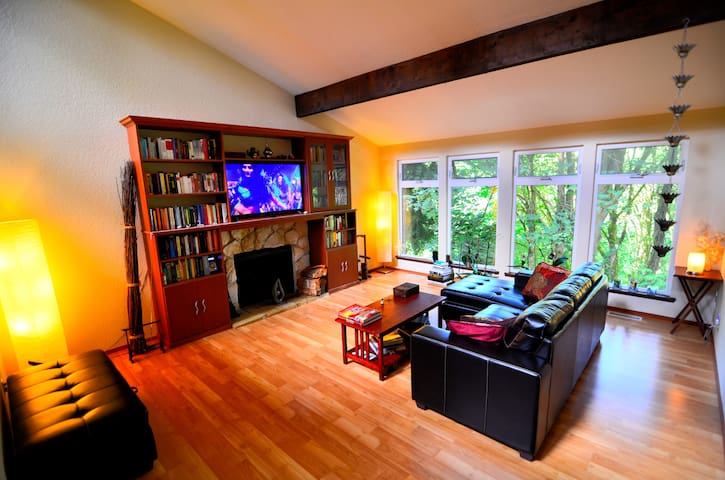 Private spacious studio suite surrounded by NATURE - Lake Forest Park - Ev