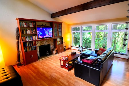Private spacious studio suite surrounded by NATURE - Lake Forest Park - Rumah