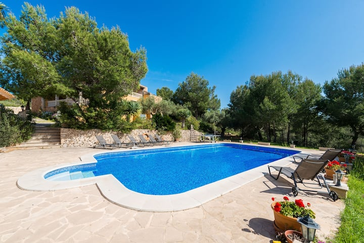 S'AGUAIT - Villa with private pool in Porto Colom. Free WiFi