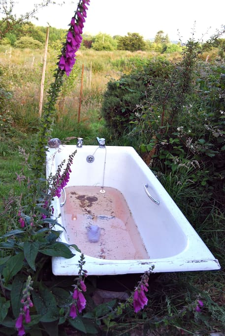 Outdoor hot bath very private with a big view