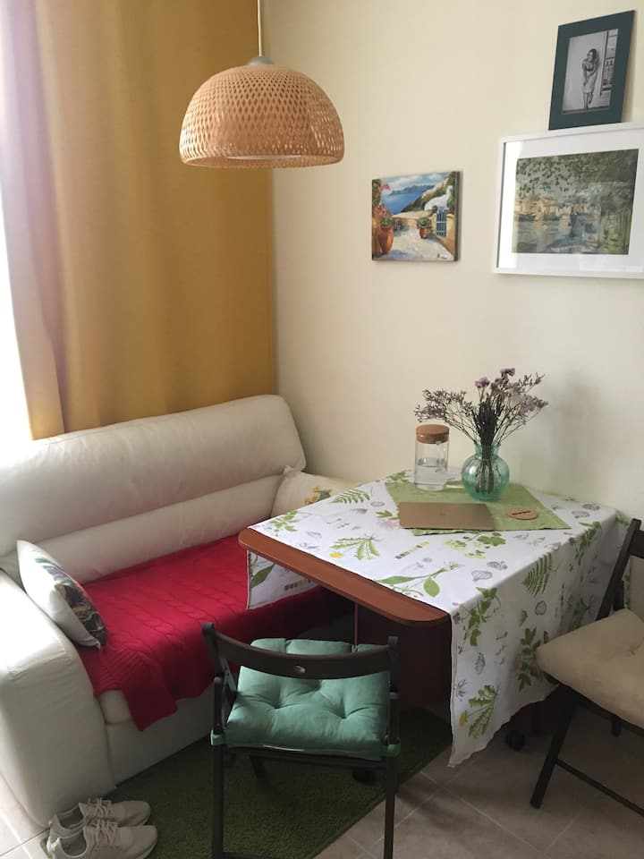 Bright clean apartment in suburb