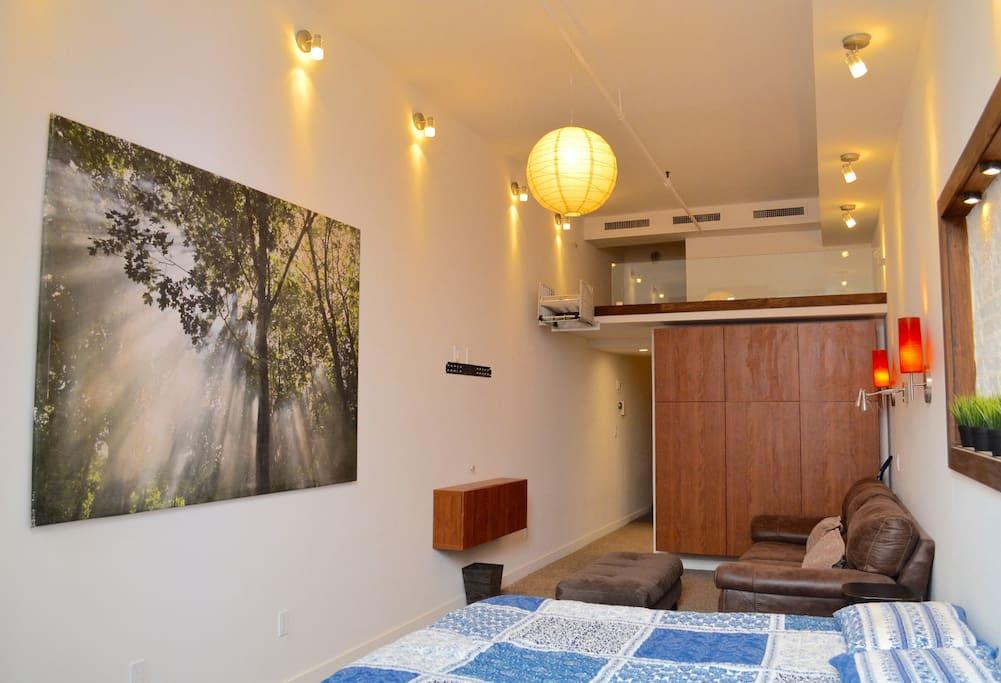 Mezzanine Sleeping Area beautiful gramercy duplex loft with terrace - apartments for rent