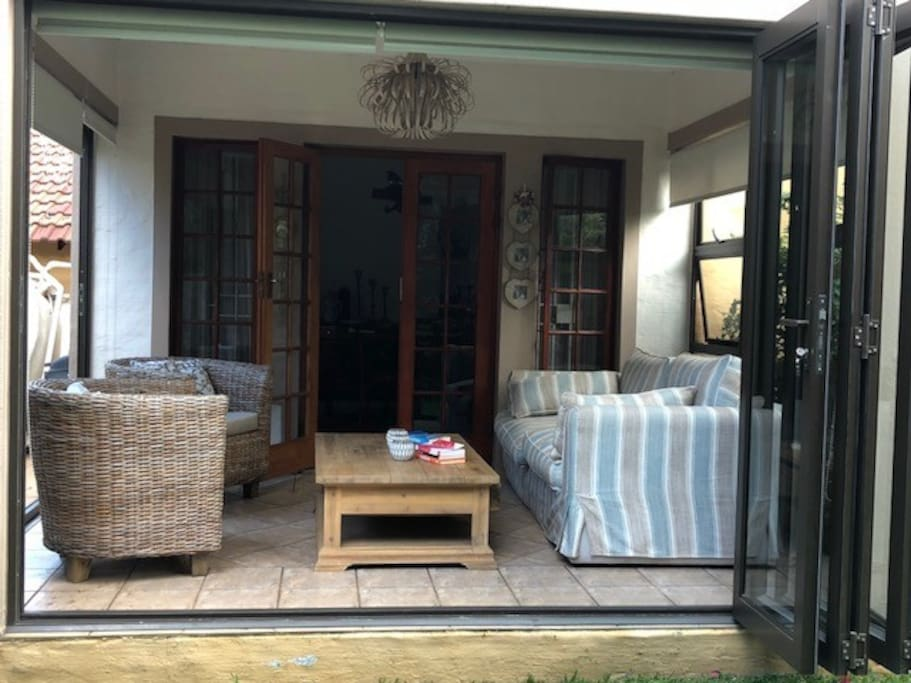 Enclosed Patio with Stacking Doors