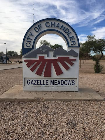 1/4 mile walk to Gazelle Meadows Park