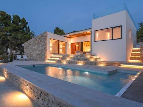 Casa Bio Nueva: Súper vistas al mar, piscina climat., huerta, A/A, wifi