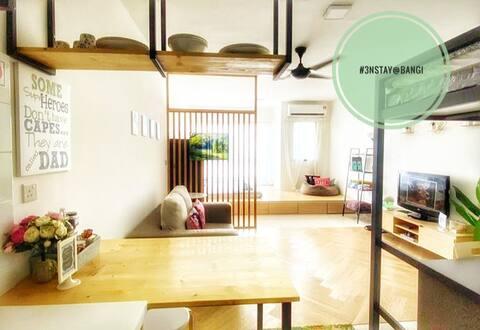 #3NStay New Minimalist Cozy Studio Condo @ BANGI