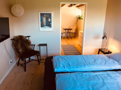 2 cozy rooms with private bathroom and entrance