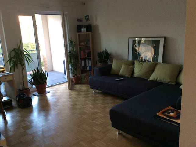 Helles, großes und offenes Wohn-/  Schlafzimmer