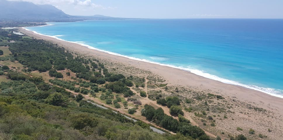 ... and all this four-season paradise lies by Kyparissia Bay on the western coast of Peloponnisos, Greece.