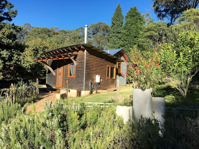 Cosy eco-cabin with alpacas, next to National Park