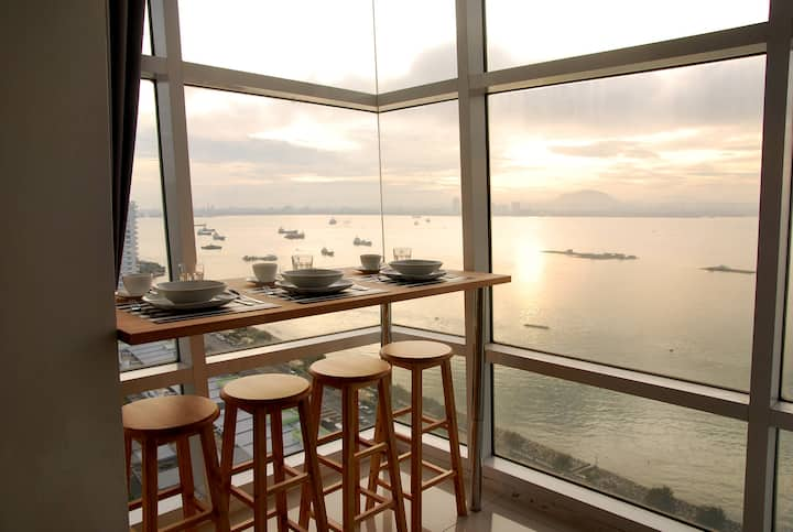 Maritime Seaview Duplex Condo by The Sea