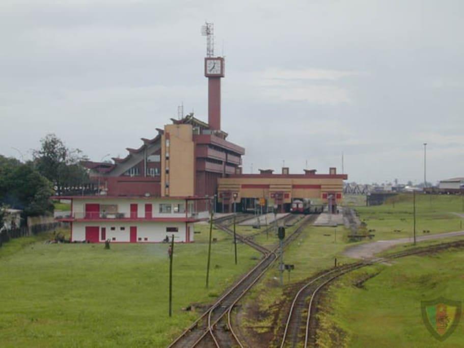 Gare international de Bessengue à Douala qui relie Douala aux principaux villes du Cameroun