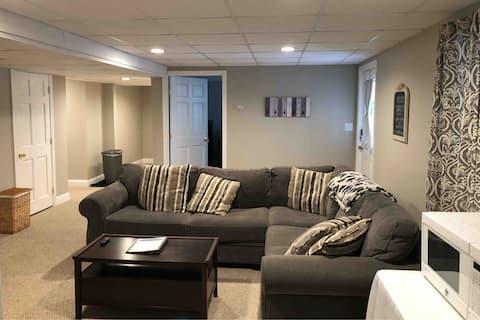 Walkout basement perfect for families