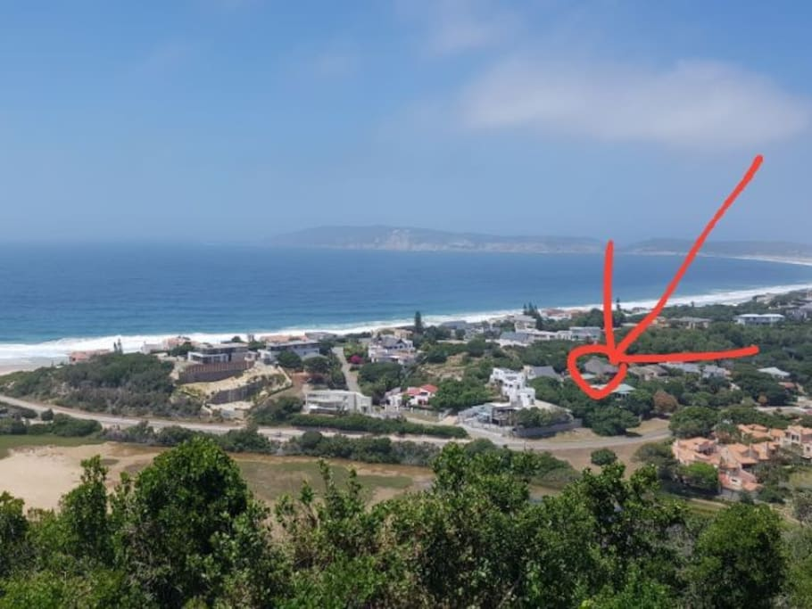 Location of house, shown in red circle