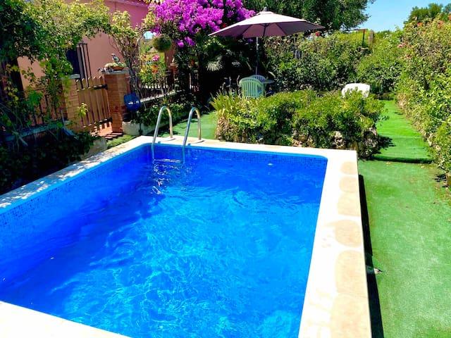 Casita de campo de 3 habitaciones con piscina