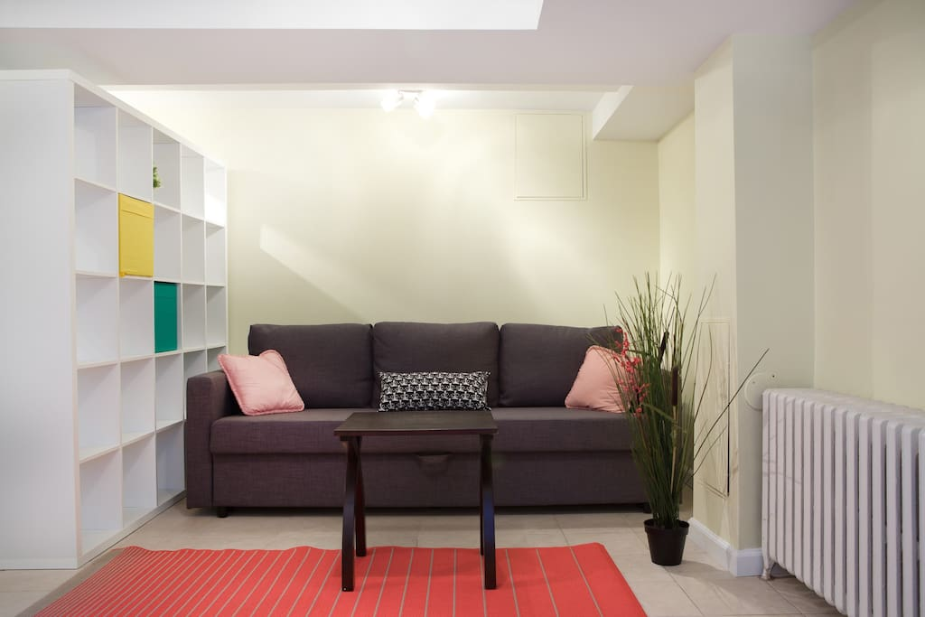 Great apartment to come home to--pullout sofa for 2nd guest