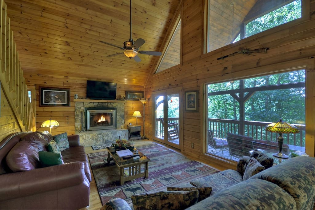LivingRoom with a Wood Burning Fireplace