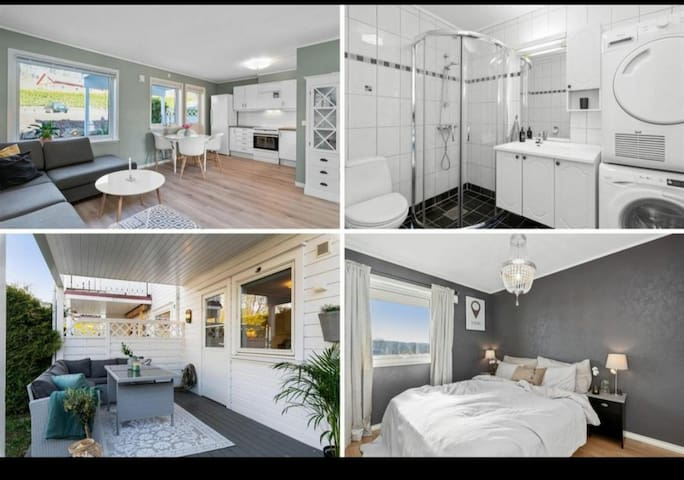 Privat leilighet med nærliggende strandtilgang!