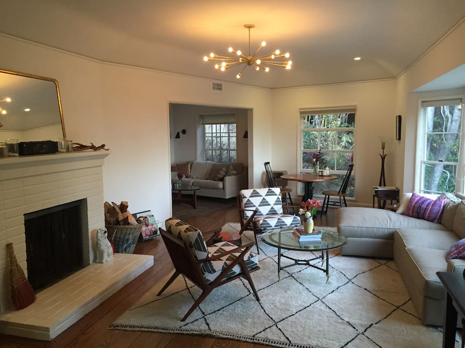 Living room looking to den/tv room