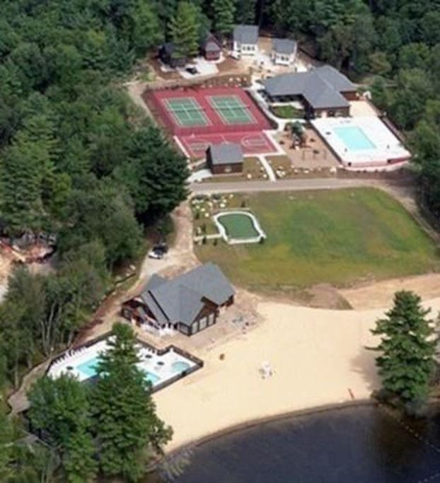 Tennis, Pavilion, Lodge, Pools, and Beach.  I shot this aerial myself from an recreational airplane out of Nashua NH