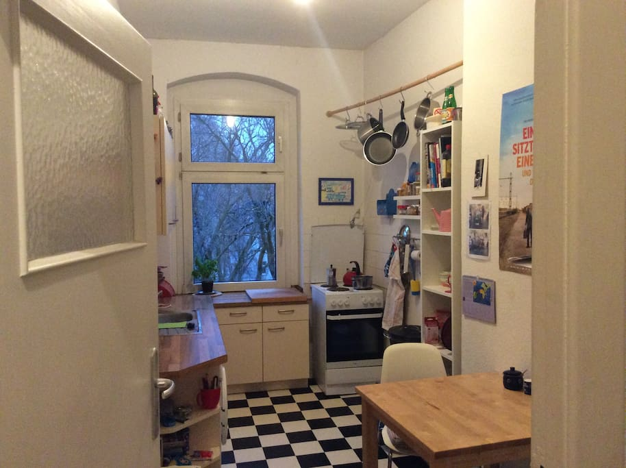 Cosy little kitchen, table and three chairs
