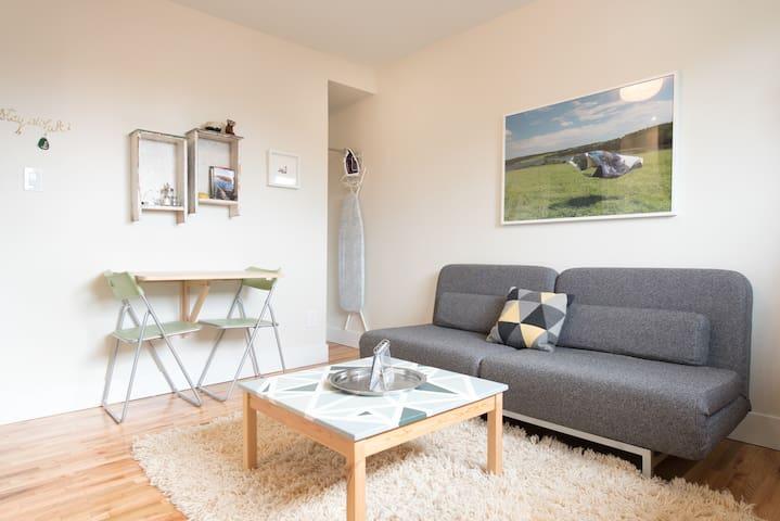 Modern Micro Suite near Hip Main St