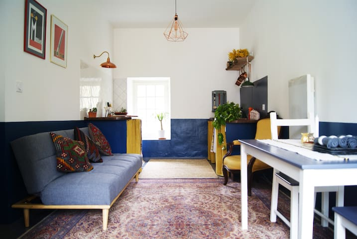 Living, dining, kitchen space