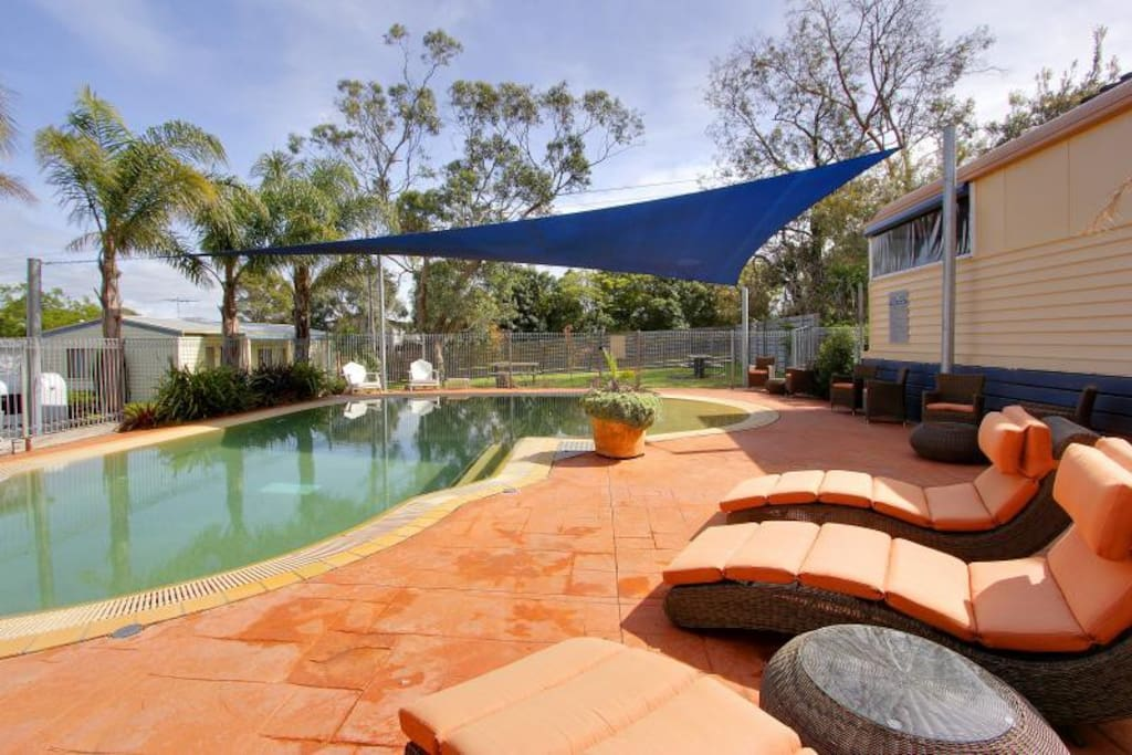 Outdoor pool on site