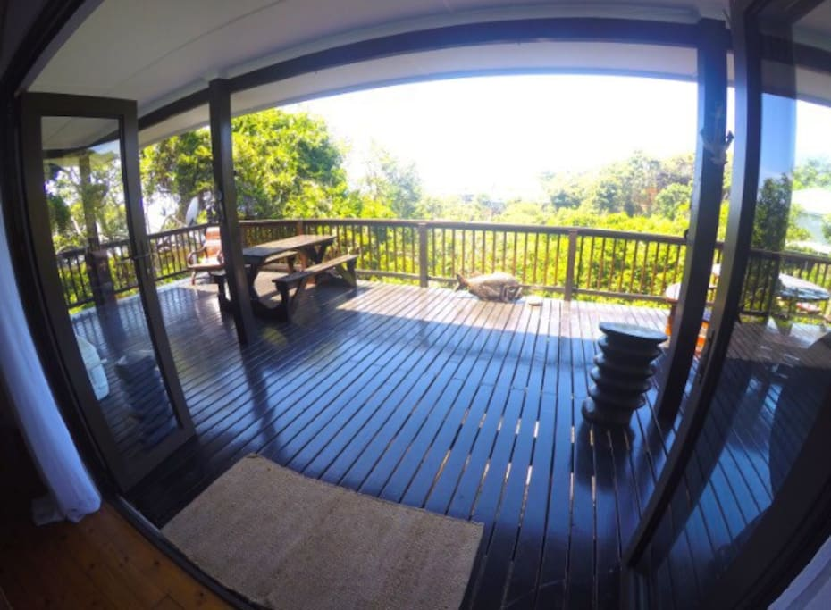 Large balcony with an awesome view