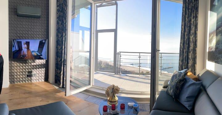 Apartament na XI piętrze z widokiem na morze