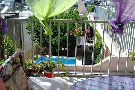 Zaros!Apartment with view & pool! Cooking courses!