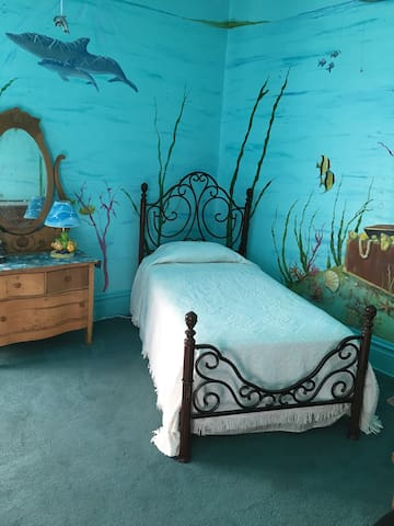 The Aquarium Room in a Queen Anne Victorian